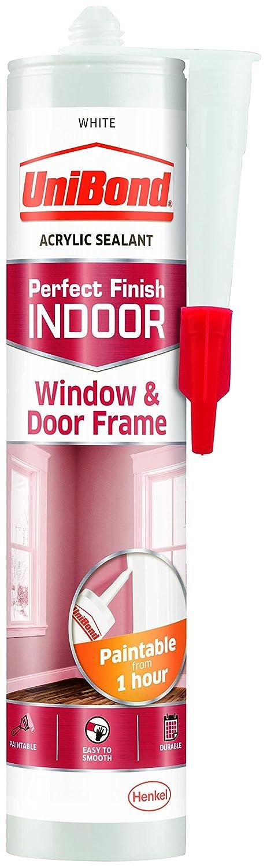 UniBond 2078408 Indoor Window and Door Frame Cartridge - White Henkel Ltd