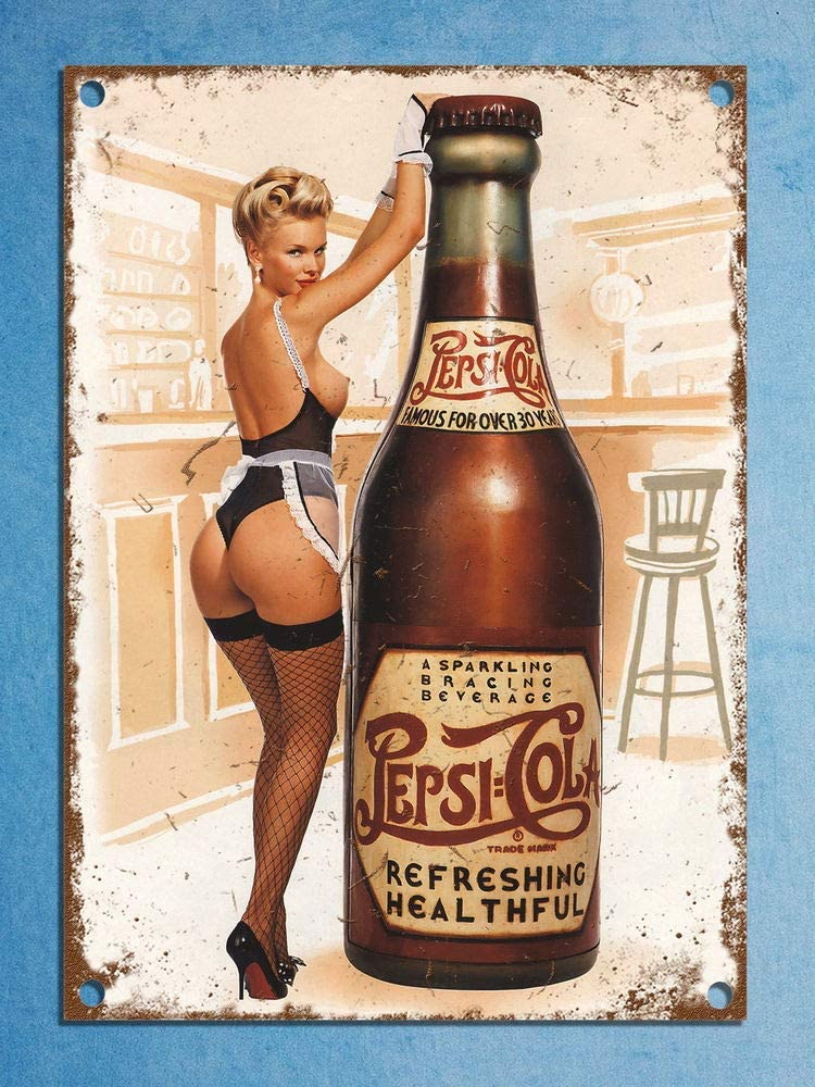 Retro replica vintage style metal tin sign gift Pub Bar Kopparberg Pin Up