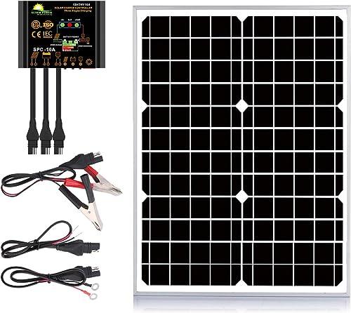 SUNER POWER 20 Watts 12V Off Grid Solar Panel Kit
