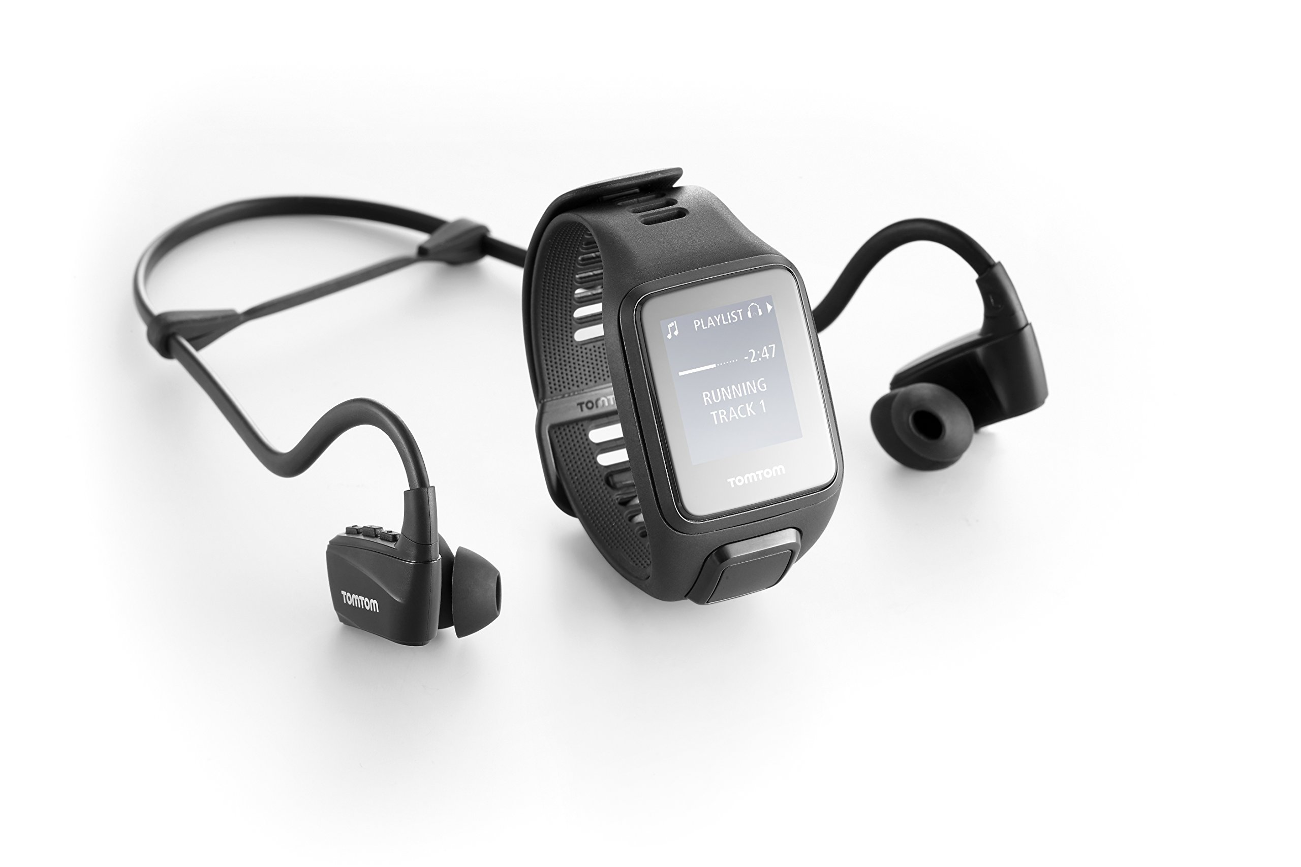 TomTom Spark 3 Cardio + Music, GPS Fitness Watch + Heart Rate Monitor + 3GB Music + Bluetooth Headphones (Black, Large) by ZHNVT (Image #2)