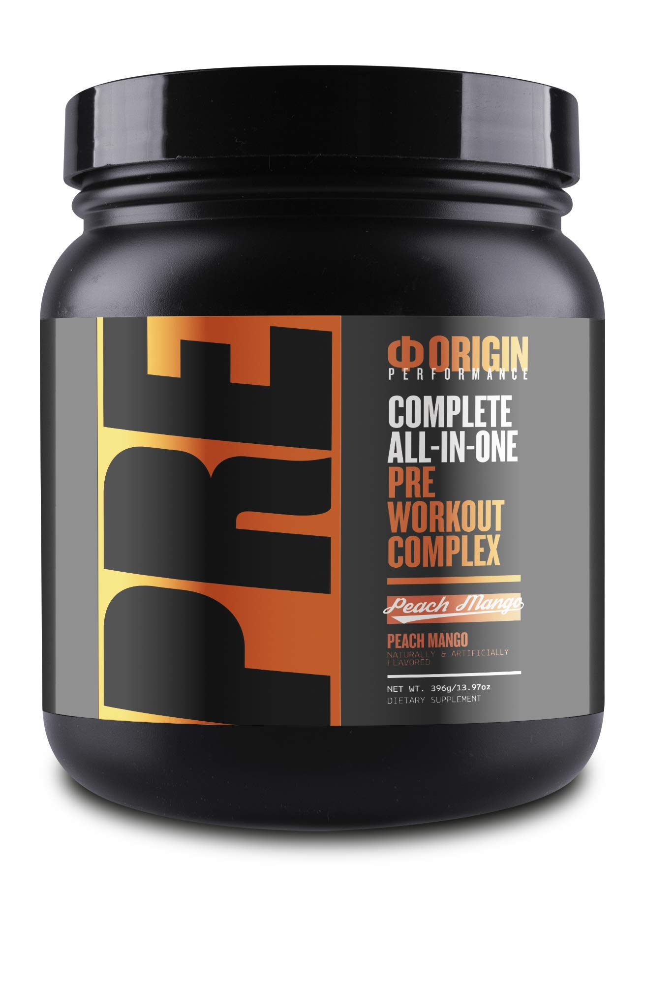 Origin Uncompromised Pre-Workout (Peach Mango) - Complete All-in-One Pre Workout Complex