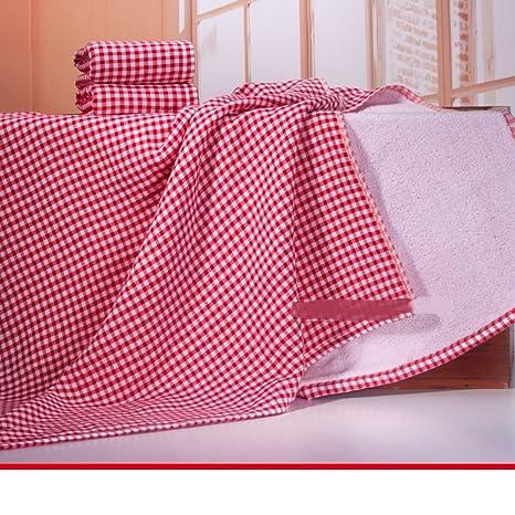 los amantes de la tela escocesa tela toallas para hombres y mujeres/Hijos adultos algodón