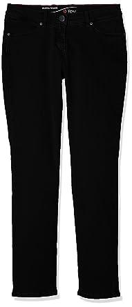 Toni Damen Jeans (Schmales Bein) Perfect Shape Slim, Black (Perfect Black  089