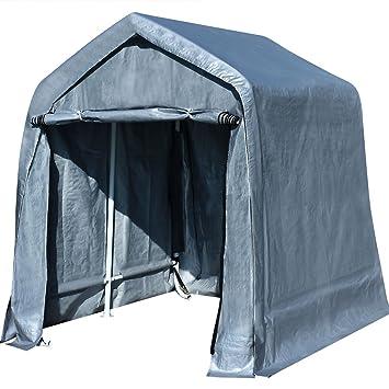 Amazon Com Quictent 10 X10 Heavy Duty Garage Carport Atv Shelter