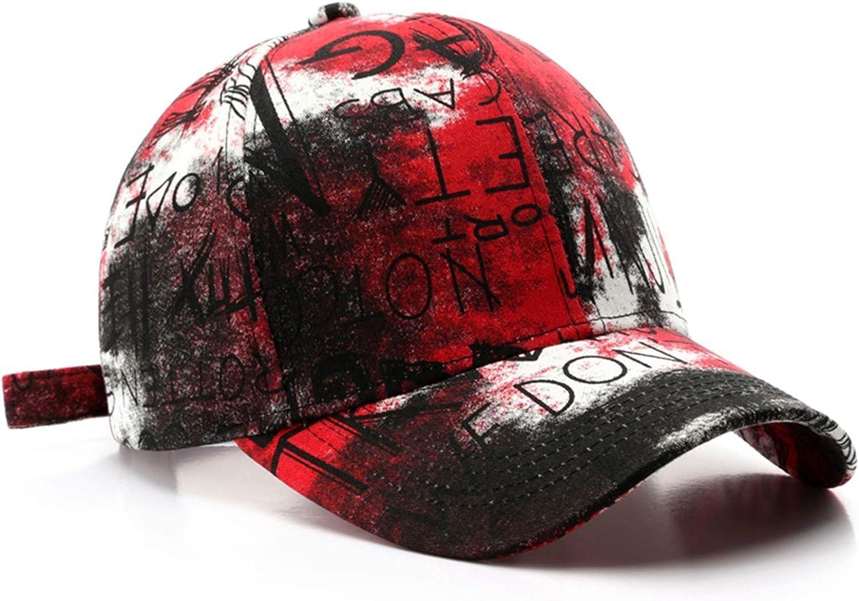 dingtian Gorra de Beisbol Hombres Modelo de Graffiti de Moda Hip Hop Hats para Hombres Mujeres Snapback Face Gorras (Color : Red Baseball Cap)