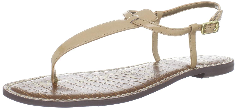 Sam Edelman Women's Gigi Thong Sandal B005DC5WGC 6.5 B(M) US|Almond Patent