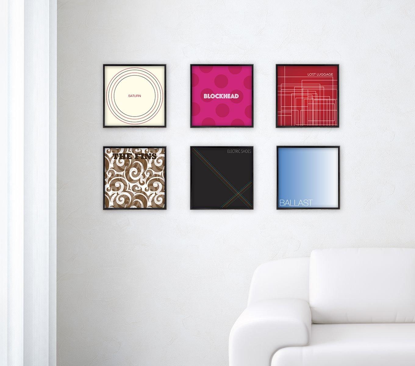 MCS 12.5x12.5 Inch Gallery Aluminum Album Cover Frame 6-Pack, Black ...