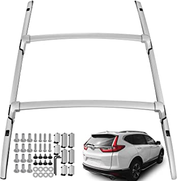 Amazon Com Ants Part 4pcs Roof Rack Side Rails Cross Bars For Honda Crv Cr V 2017 2020 Oe Style Silver Automotive