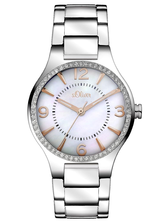 s.Oliver Damen-Armbanduhr XS Analog Quarz Edelstahl SO-2842-MQ