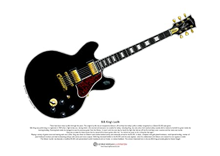 George Morgan Illustration Guitarra Lucille de B.B. King tamaño ...