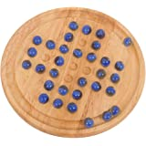 Bigjigs Toys Classic Wooden Solitaire Game with Marbles