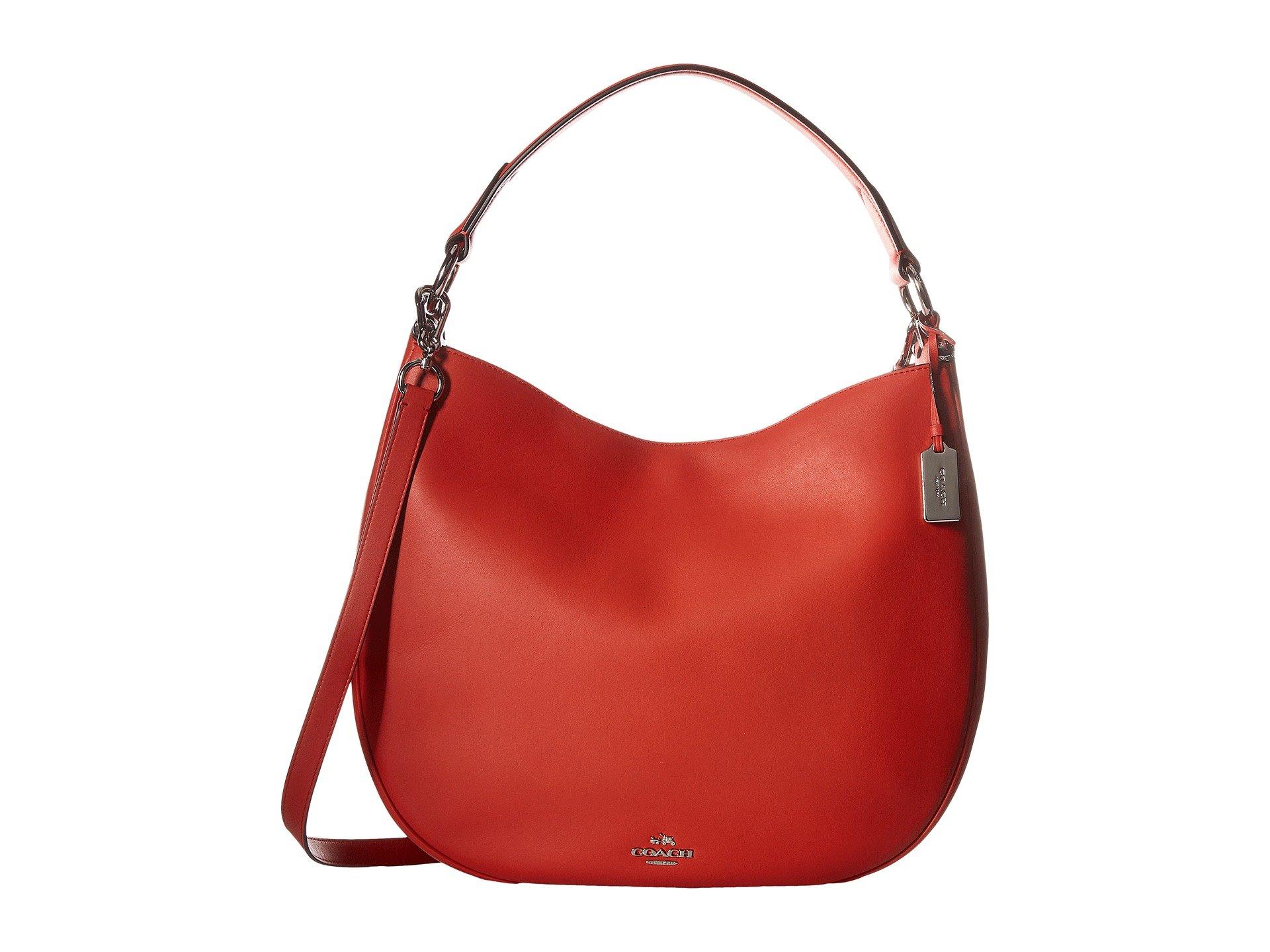 COACH Women's Glovetan Leather Nomad Hobo Sv/Carmine Handbag by Coach