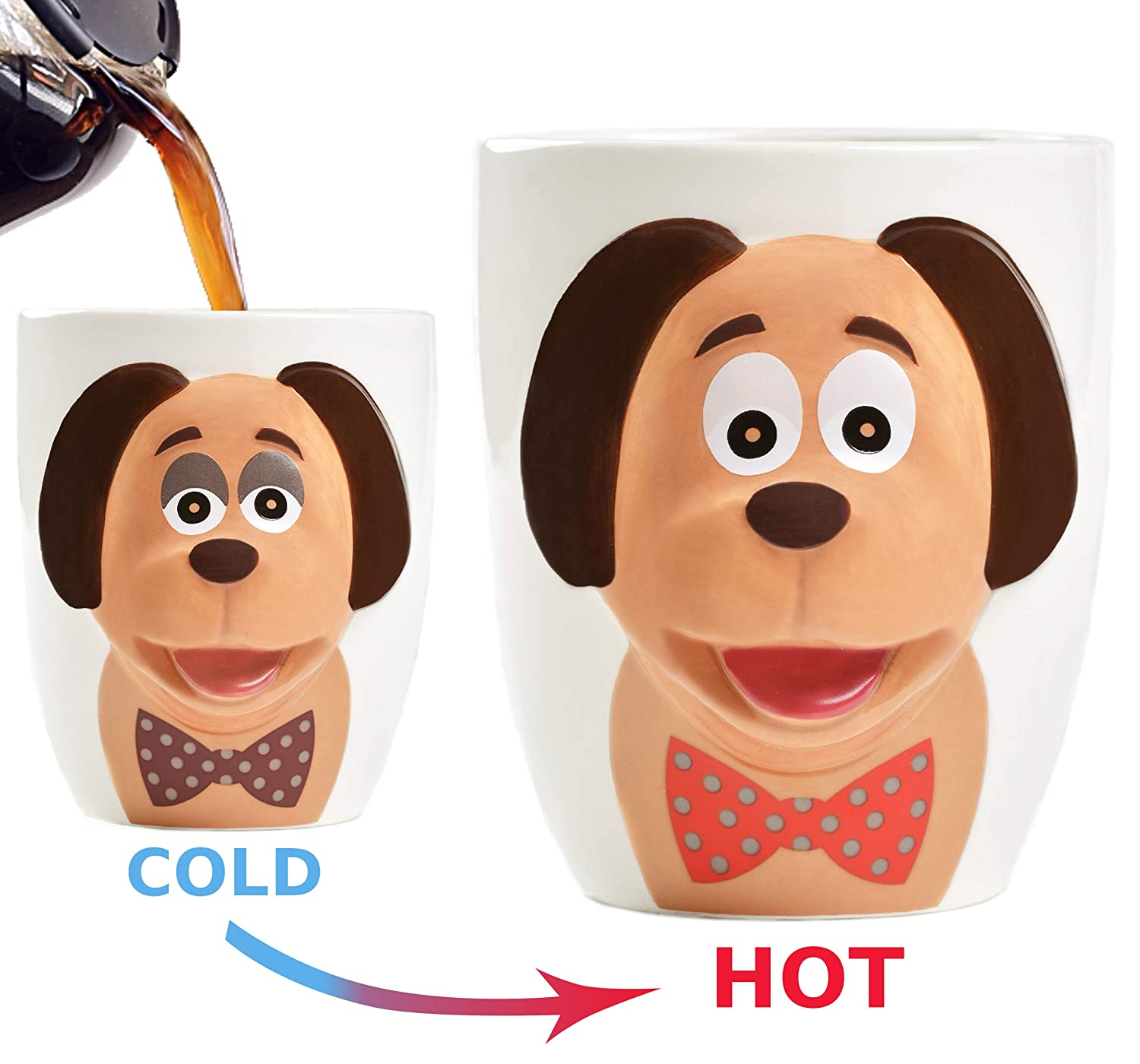 Heat Color Changing 18oz Coffee Mug for Dog Lovers