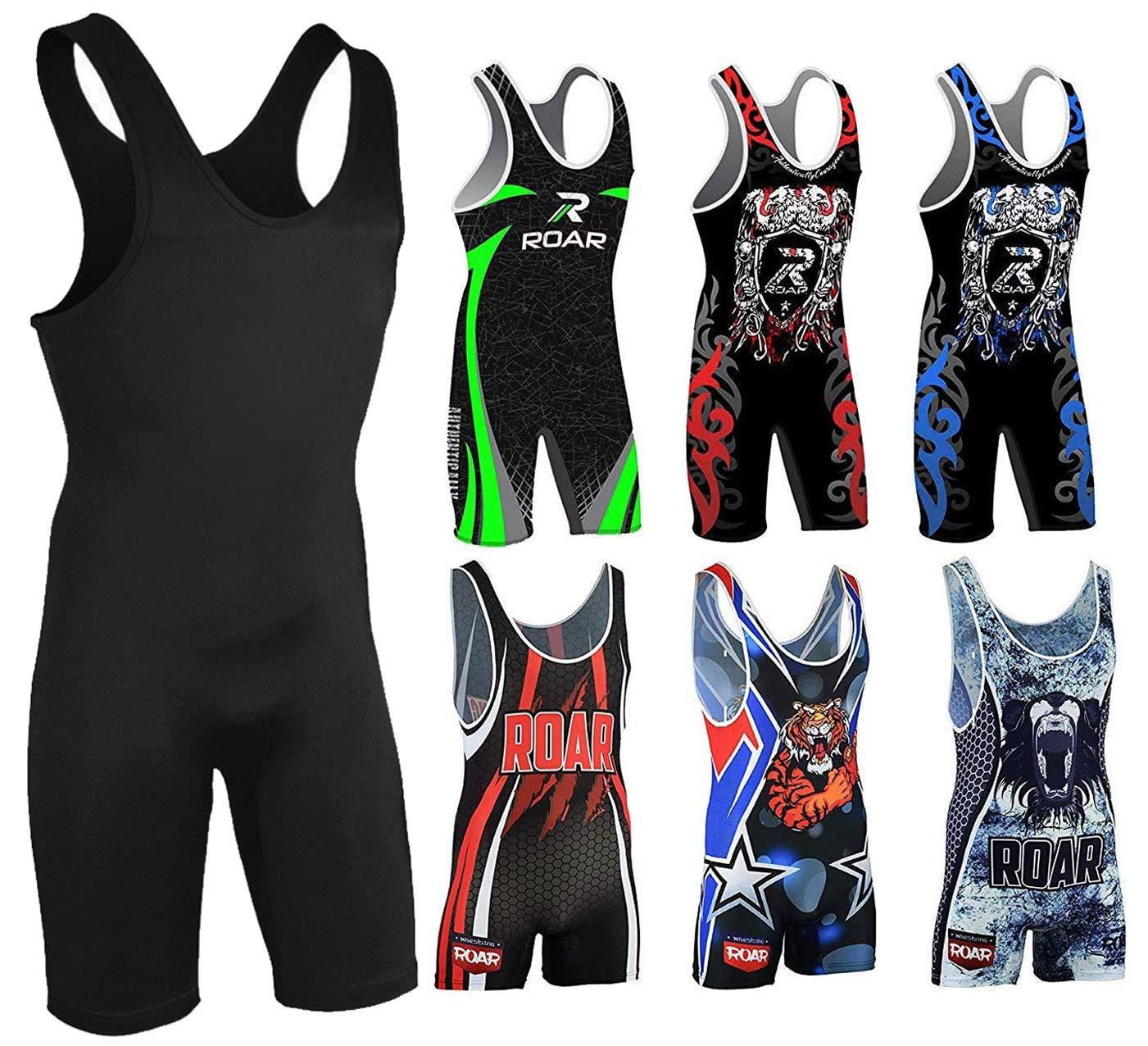 ROAR Athletic Men/'s /& Youth Wrestling Singlet Suit Bodywear Uniform