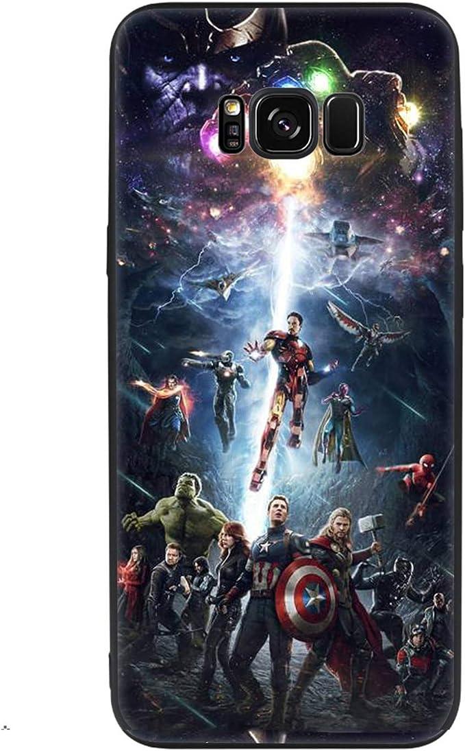 Coque Samsung Galaxy S9 S8 Avengers Marvel Captain America Souple TPU Silicone Coque pour Samsung Galaxy S10 S10e S9 S8 Plus S7 S6 Edge J6 Absorption ...
