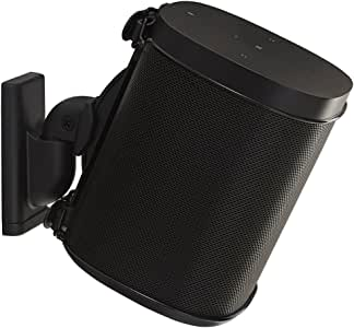 WSWM21B SANUS for Sonos One, Play1 & 3 Spks Single Black-Suits Most Brands Suits Sonos One, Play:1 and Play:3 & Other Wireless Speakers Suits Sonos One, Play:1 and Play:3 & Other Wireless Speakers