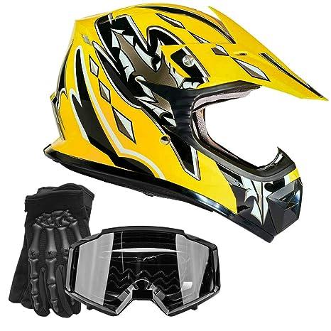 Amazon.com: Guantes de casco para niños Offroad Gear Combo ...