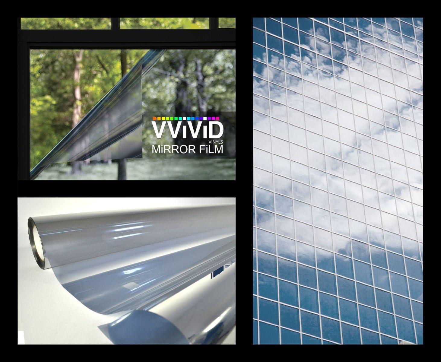 VViViD One Way Mirror Silver Window Film (30 Inch x 15ft)