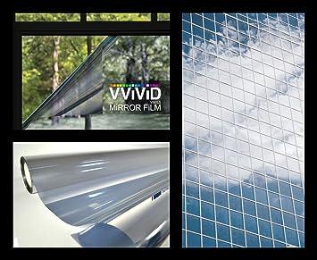 Amazoncom Vvivid One Way Mirror Window Film Silver 1775 Inch X