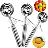 Ice Cream Scoops, MAGICYOYO Trigger Cookie Scoop Set Stainless Steel Spoon Scoopers Kids, Friends & Familes (Heavy Duty…