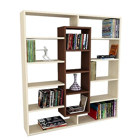 Alphamoebel - Parete attrezzata soggiorno Libreria Ample, colore ...