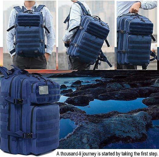 SUPERSUN Sac /à dos tactique militaire Molle Bag 45 litres Grand sac /à dos Vert