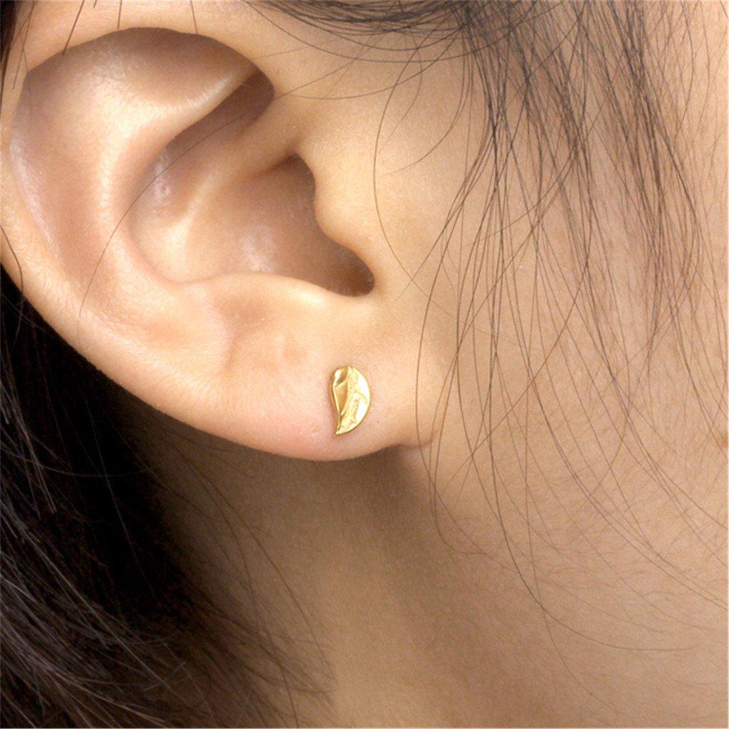 Jovivi 2-4pcs Stainless Steel Silver Golden Leaf Barbell Cartilage Helix Stud Earrings 16 Gauge 1//4 AJ1010104927
