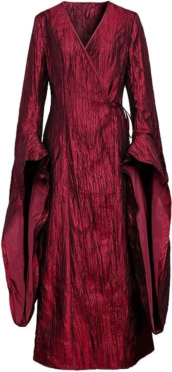 NUWIND - Disfraz Traje de Mujer Melisandre Game of Thrones Vestido ...