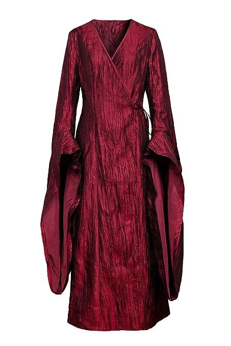 NUWIND - Disfraz Traje de Mujer Melisandre Game of Thrones Vestido Reina Victoriana Medieval con Cuello en V para Halloween, Cosplay, Fiestas y ...
