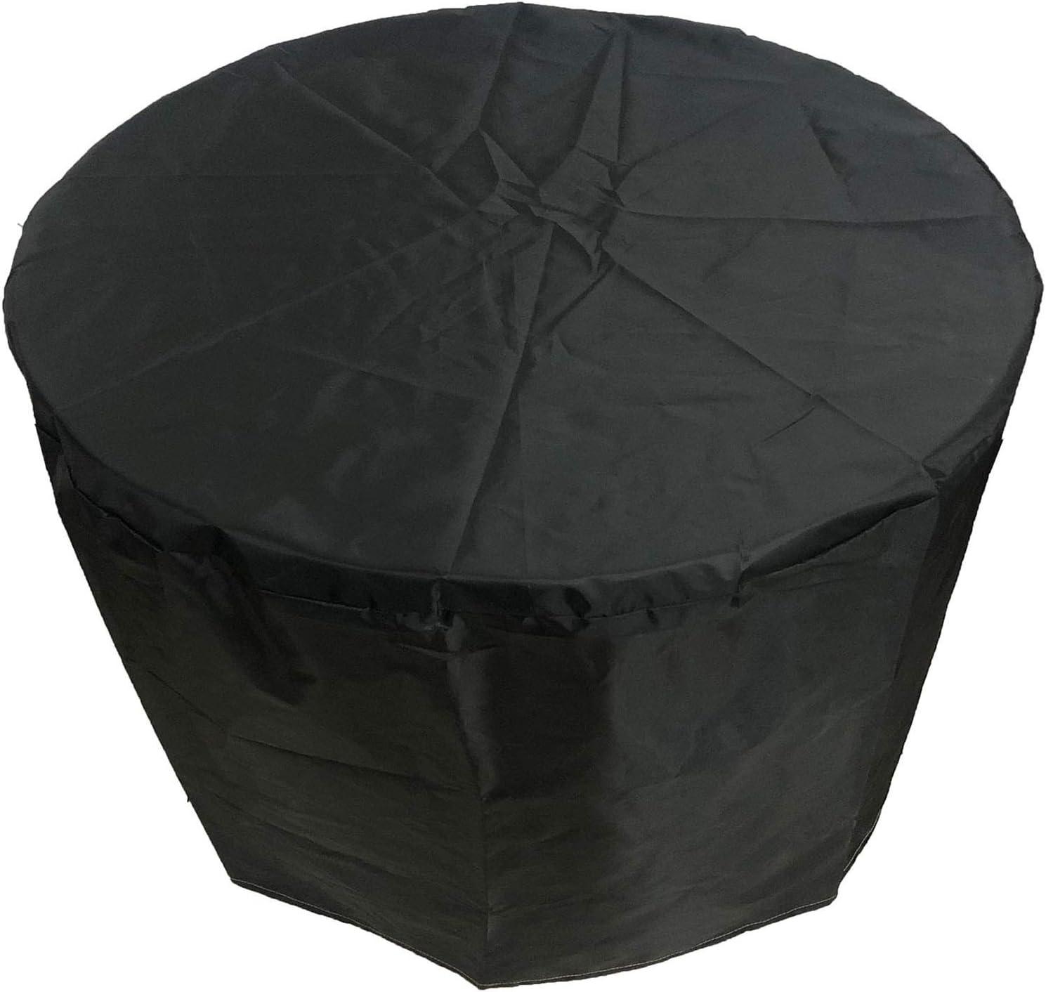 QIAOH Patio Exterior Cubiertas Mueble Impermeable 80x71cm, Resistente UV Redondo Jardín Mesa Funda Transpirable Circular Mesa Y Silla Refugio Funda, Funda para Muebles De Jardín