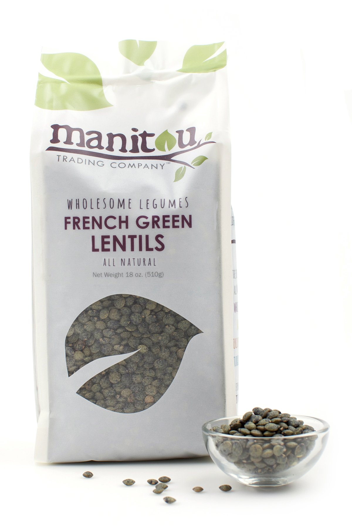 Manitou French Green Lentils, 18 Ounce, Pack of 6, 18 Ounce