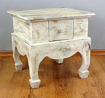 Opiumtisch,Elefantenschnitzerei,Beistelltisch Asia Möbel,Couchtisch Handarbeit