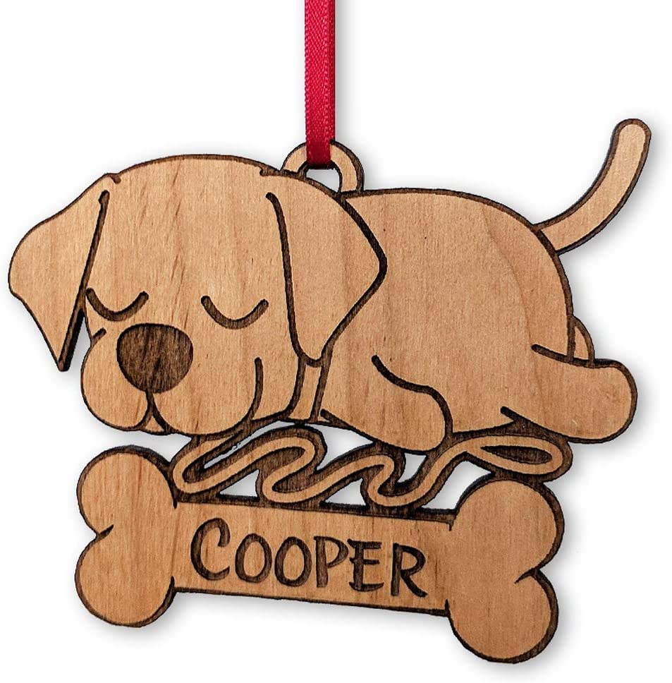 Custom Dog Ornament Black Lab Ornament Personalized Christmas Ornament Family Dog gift Pet Lover Gift