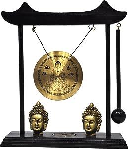 Mudra Crafts Miniature Zen Art Oriental Asian Office Home Desktop Mini Decor Gong Chime (Buddha)