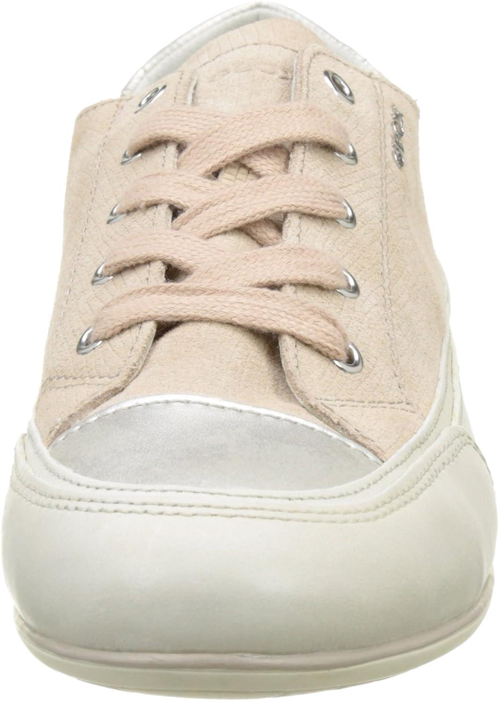 Geox Damen D New Moena D Sneaker, Schwarz Beige Skin Off Whitec8116