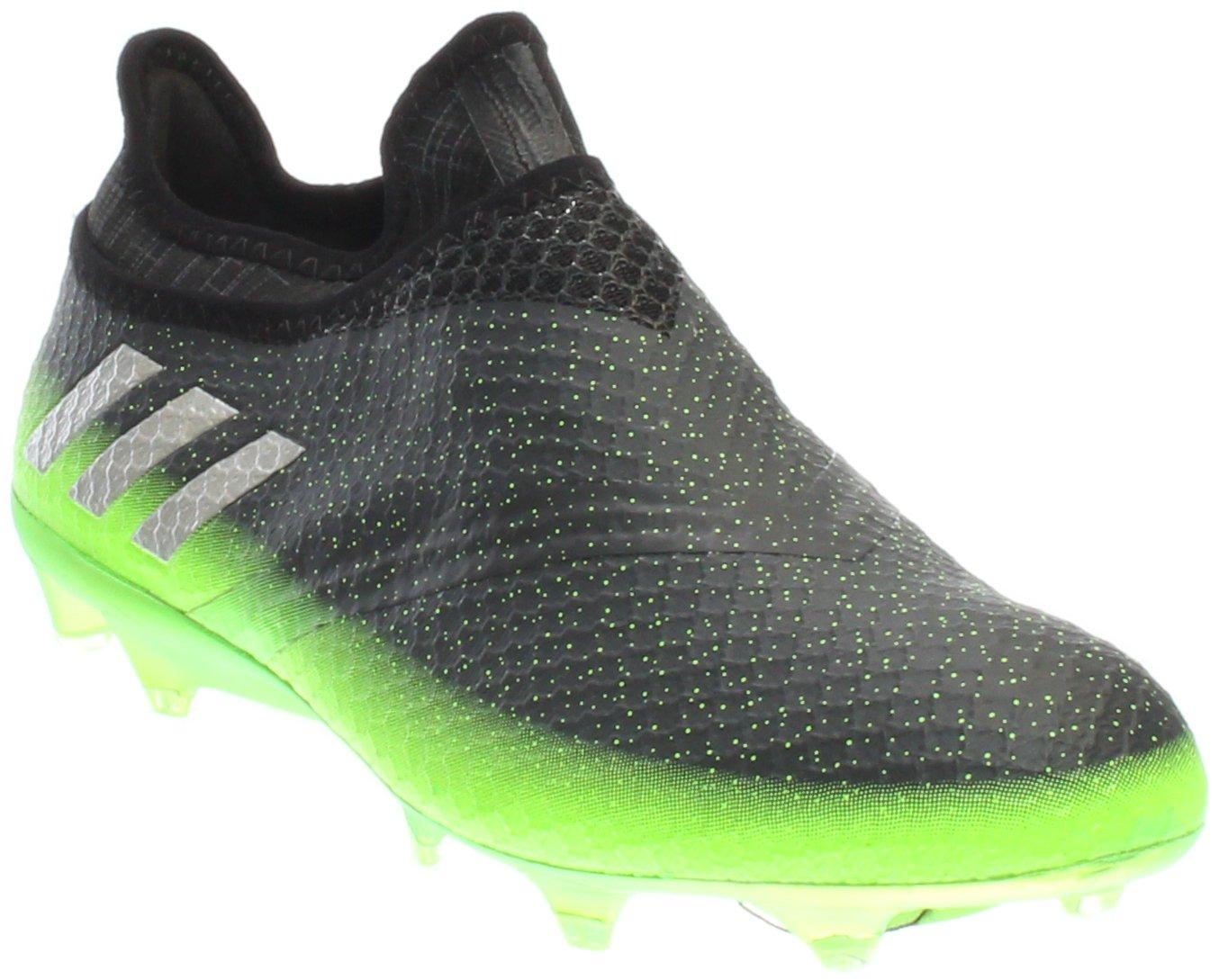 adidas Mens Messi 16+ Pureagility FG Soccer Sprint Frame Cleats B01MA277JZ 7.5 D(M) US|Dark Grey/Silver Metallic/Solar Green