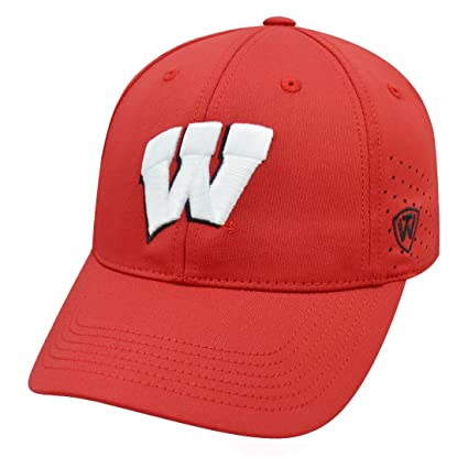 hot sales 0594b ac911 Image Unavailable. Image not available for. Color  Wisconsin Badgers NCAA  Top of the World  quot Jock 2 quot  Memory Fit Flex Hat