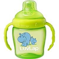 Luvlap Hippo Sipper, Green, 225ml