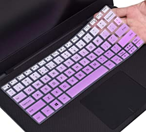 "CaseBuy Keyboard Cover for DELL XPS 13 9380 9370 9365 13.3"" Laptop(NOT Fit XPS 13 7390), Ombre Purple"