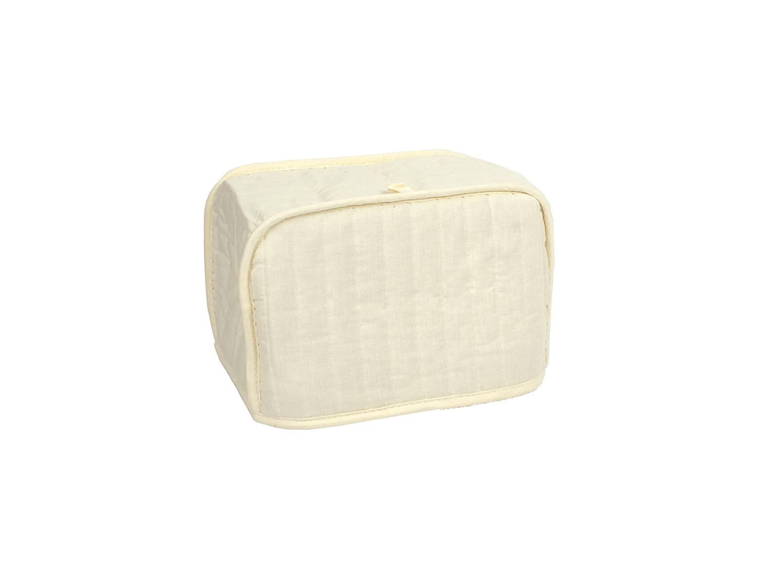 RITZ Polyester / Cotton Quilted Four Slice Toaster Appliance Cover, Dust and Fingerprint Protection, Machine Washable, Natural