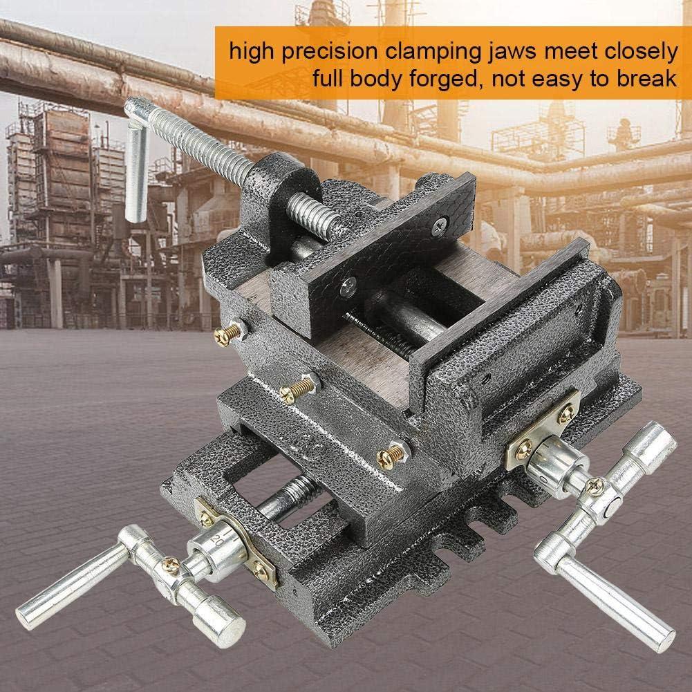 4-Zoll-Universal-Tischwerkbankschraubstock f/ür die Befestigung von Werkzeugmaterialklemmen Ingenieur-Tischbank-Schrau Bohrmaschinen-Schraubstock