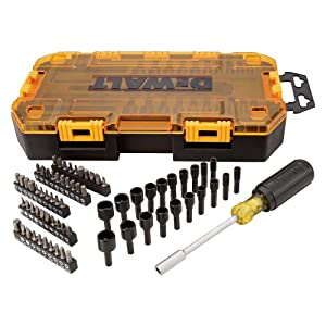 DEWALT DWMT73808Multi-Bit & Nut Driver Set (71 Piece), 1/4""