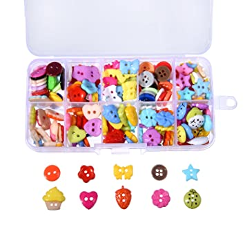 Outus 240 Pieces Sewing Button Craft Buttons Resin Button with Plastic Storage Box for DIY Sewing  sc 1 st  Amazon.com & Amazon.com: Outus 240 Pieces Sewing Button Craft Buttons Resin ... Aboutintivar.Com