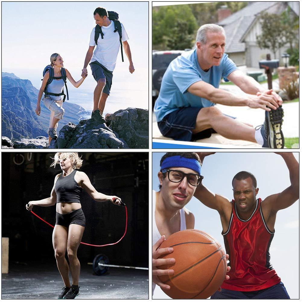 Fitness Ejercicio y Senderismo Yuccer Tobillera para Esguince Ajustable Tobillera Deporte Proteccion para Hombres Mujeres Futbol Voleibol Negro