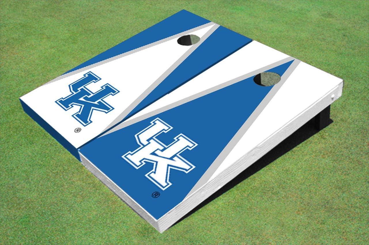 Skip's Garage ケンタッキー大学ワイルドキャッツ 交互三角形コーンホールボード - サイズとアクセサリーをお選びください - ボード2枚、バッグ8枚など  E. 2x4 Boards - Corn Filled Bags