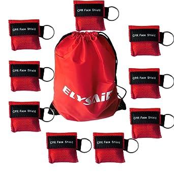100 PCS CPR máscaras faciales Unidireccionales de rescate de válvula de válvula de boca Kits de emergencia Kits de llavero para primeros auxilios o ...