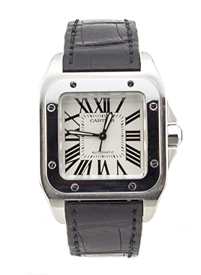 Cartier Santos 100 Acero Inoxidable Hombres del Reloj 2878 (Certificado) de Segunda Mano