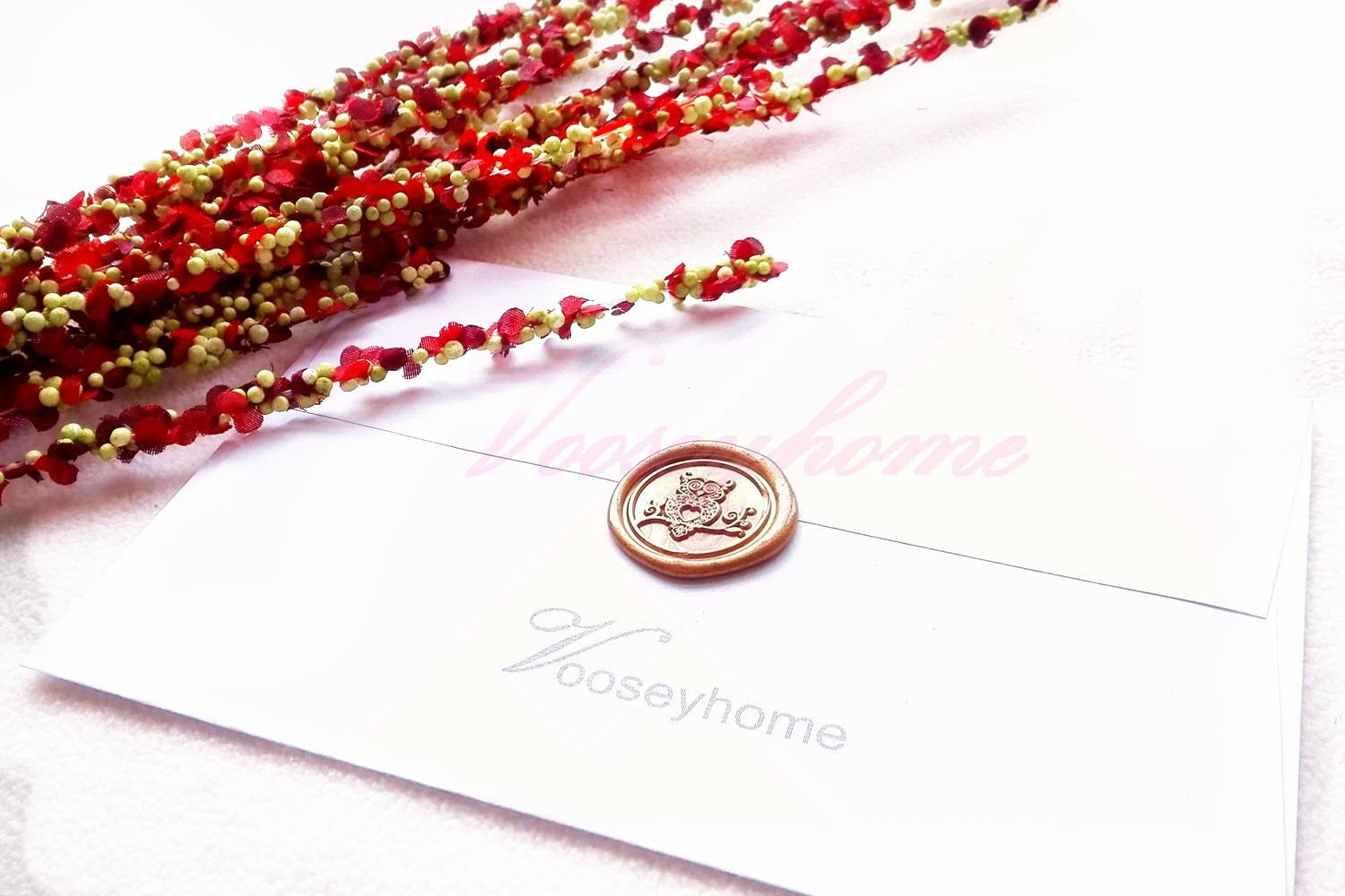 Vooseyhome The Cute Owl Wax Seal Stamp with Rosewood Handle - Ideal for Decorating Gift Packing, Envelopes, Parcels, Cards, Letters, Invitations, Signature and Everything You Like! by VOOSEYHOME (Image #5)