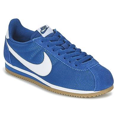 Zapatillas Nike Classic Cortez Nylon Azul/Blanco Hombre: Amazon.es: Zapatos y complementos