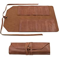 Lederen Tool Roll, Grote Tool Bag Snap Tool Kapper Potlood Roll Pouch Handgemaakte Multi Purpose Organizer Wrap voor…